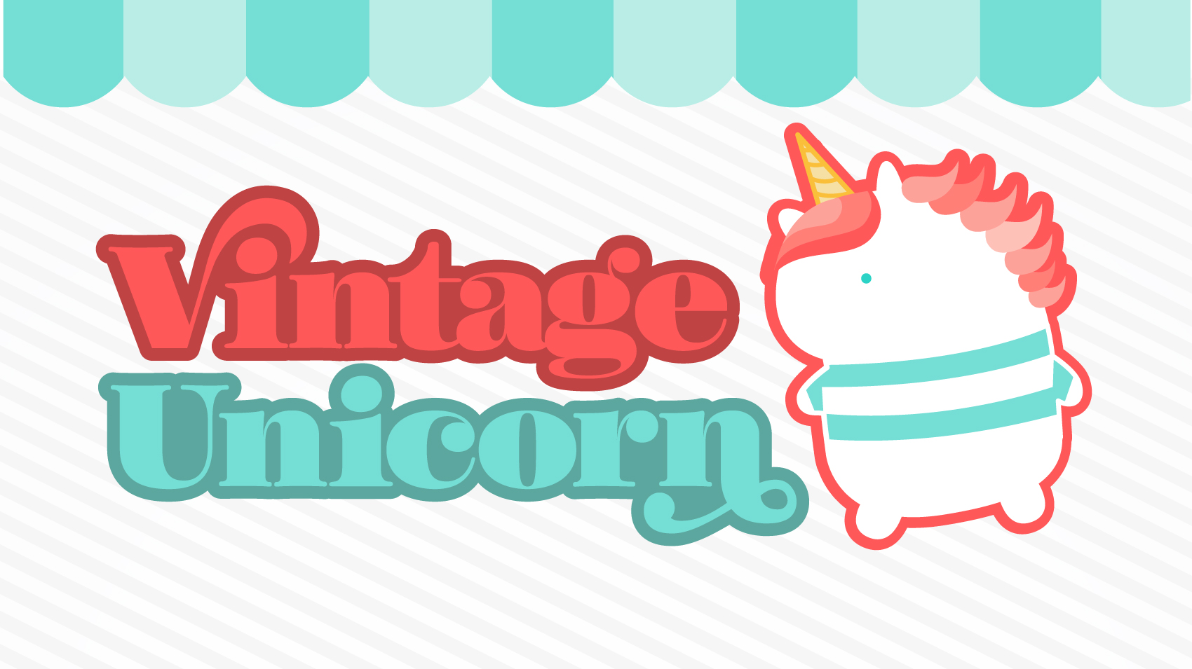 Vintage Unicorn Self promo logo design