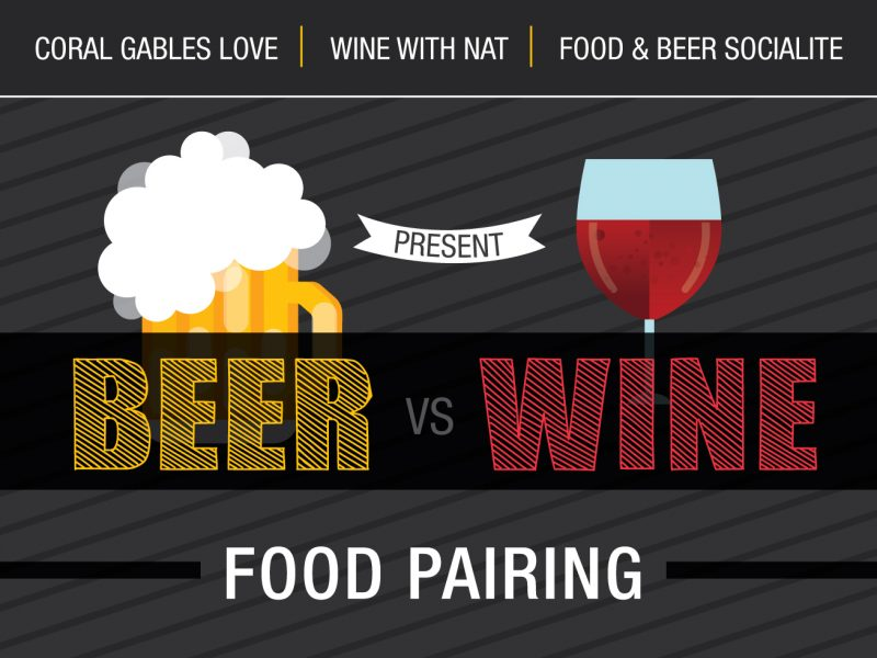 Beer vs Wine Flyer