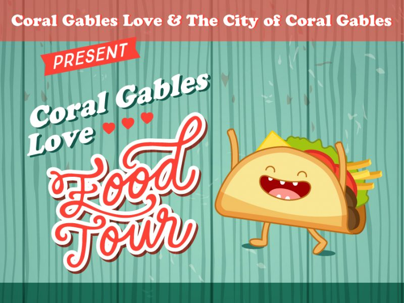 Coral Gables Love Food Tour Flyer Design