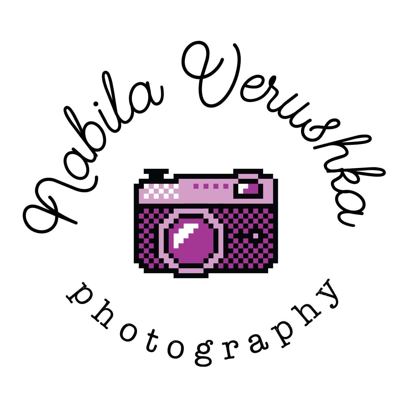 Nabila Verushka photographer 8bit logo design