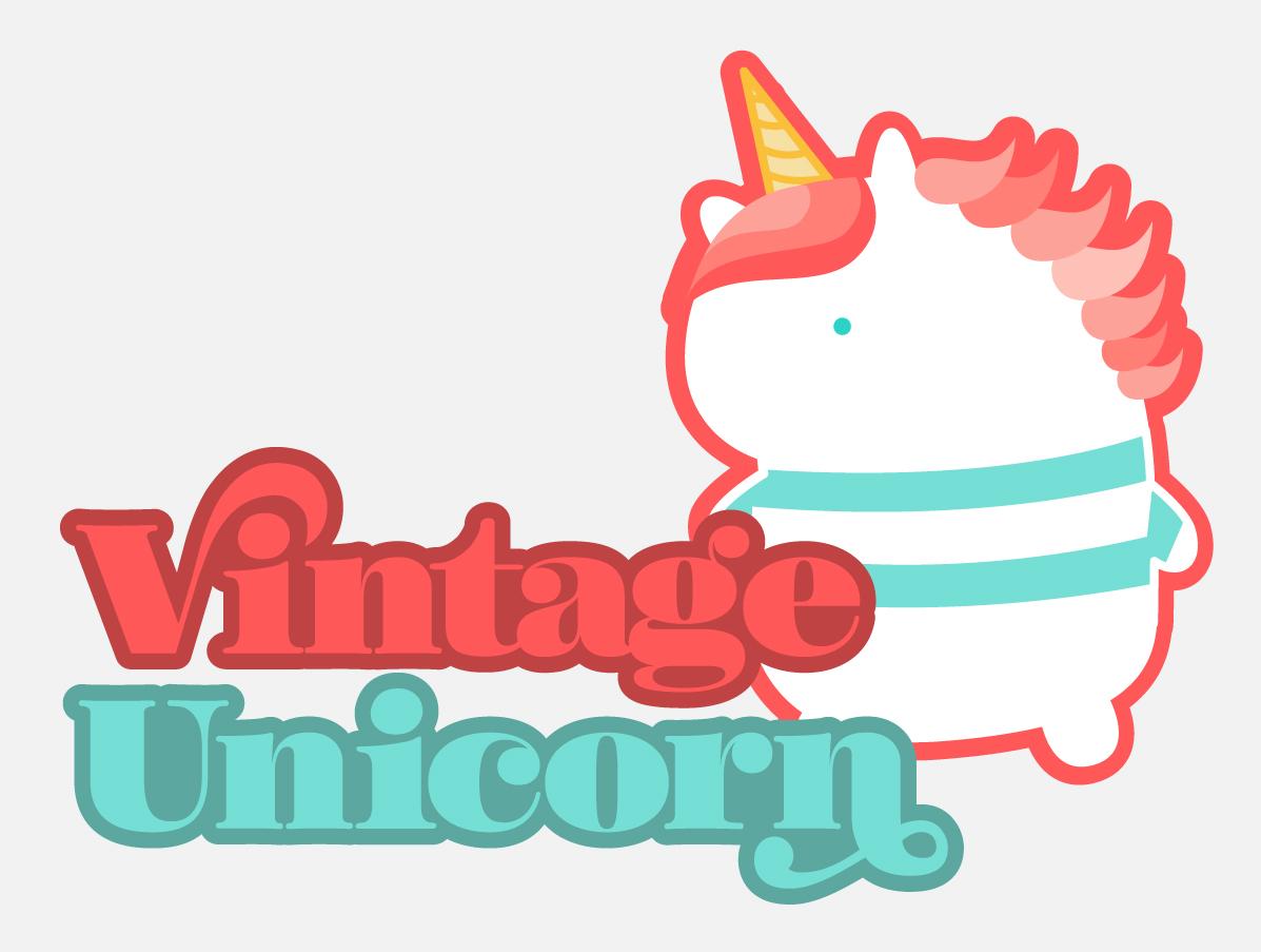 Vintage Unicorn Self promo logo design
